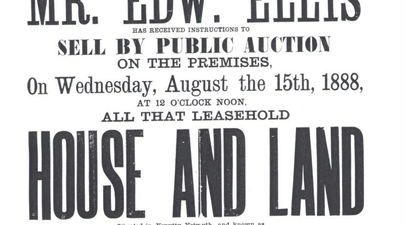 House and land sale poster